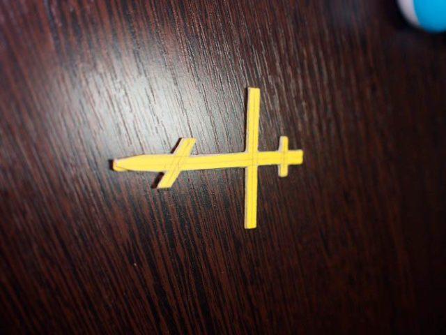 Бумажный крест, церковный