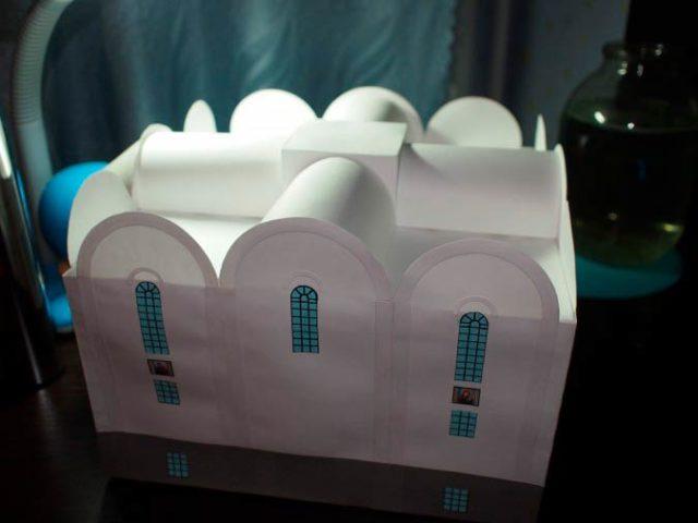 Изготовление поделки церкви
