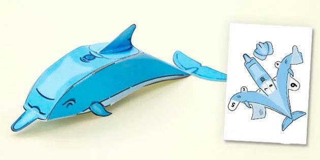 Развёртка небольшого дельфинчика.