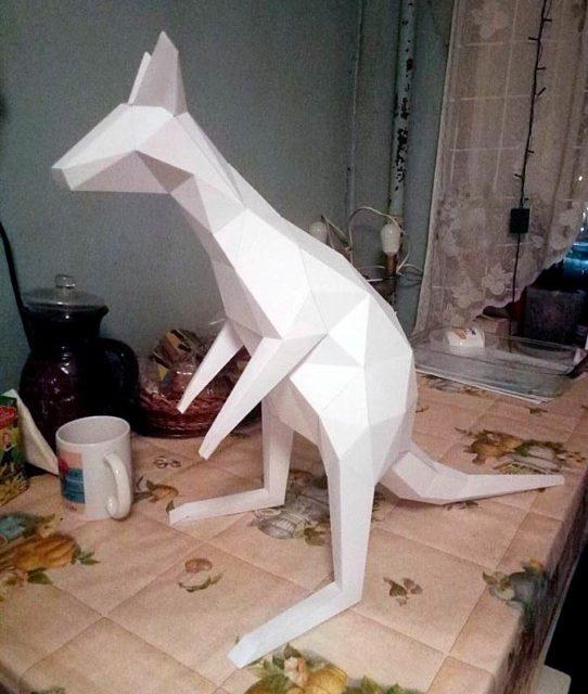 Бумажная поделка кенгуру