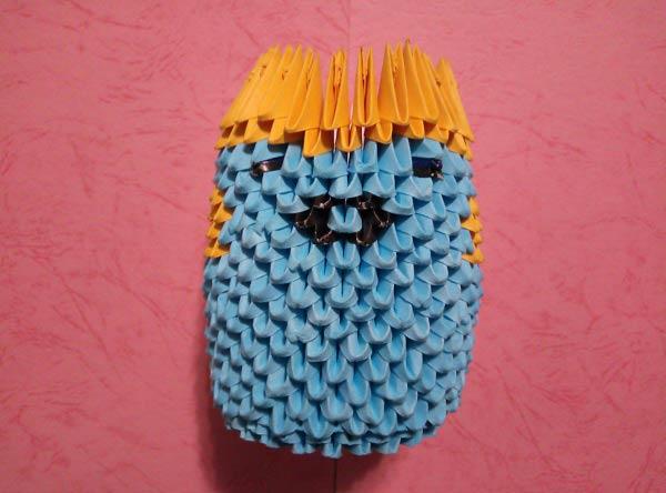 Миньон из модулей оригами