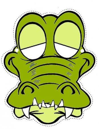 Шаблон, маска крокодила