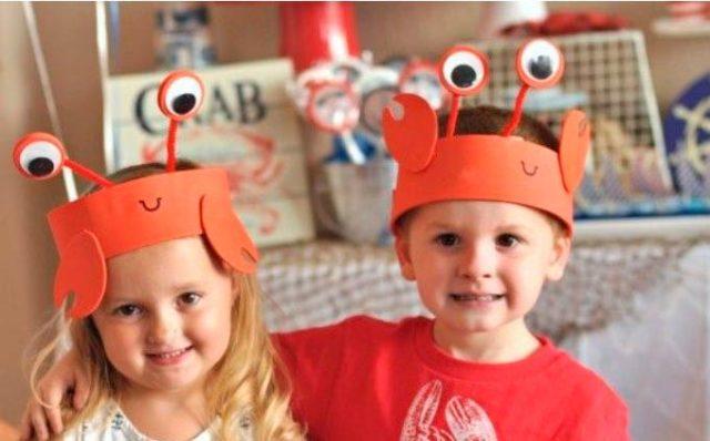 Маски раков для детей на голову