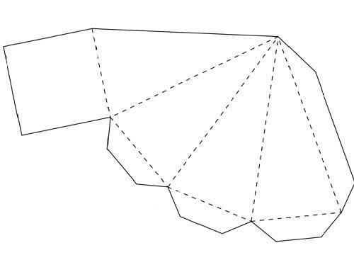 Схема четырехугольной пирамиды