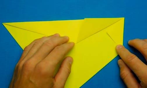 Сборка морского конька в технике оригами