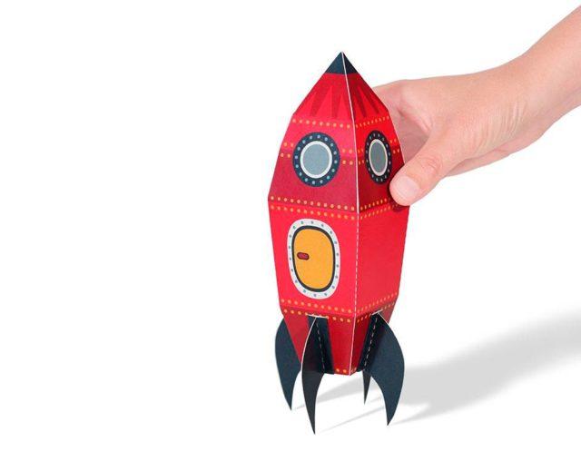 Космический корабль из бумаги