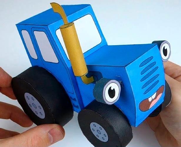 Макет синего трактора