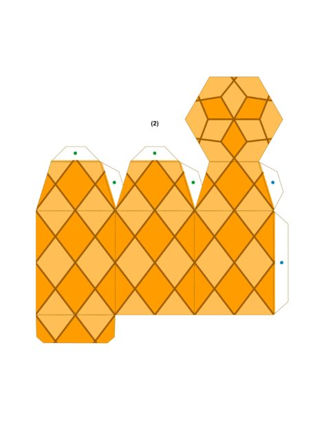 Создание бумажного ананаса