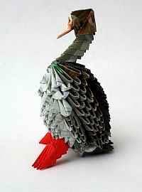 Сборка утки в технике модульного оригами