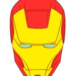 Шлем маска железного человека, шаблон