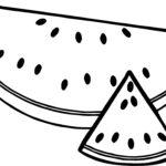 Шаблон арбуза, раскраска