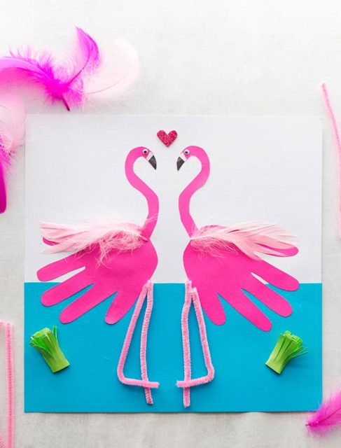 Аппликация фламинго