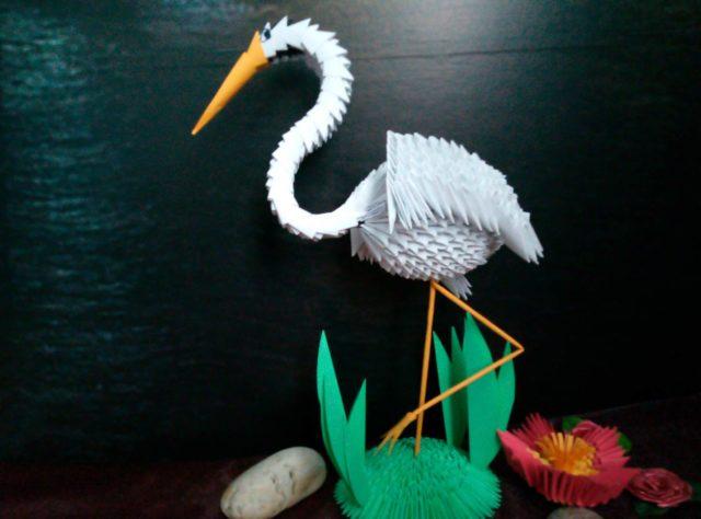 Цыпля в технике модульного оригами