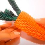 Морковка из модулей оригами