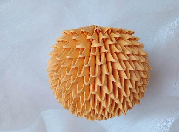 Тыква из модулей оригами