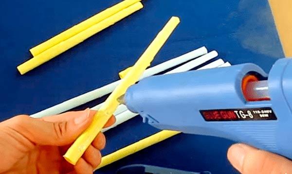 Сборка лука из бумажных трубочек