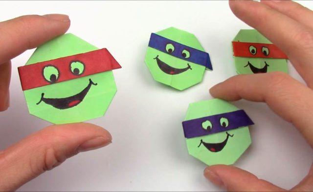 Оригами черепашек ниндзя