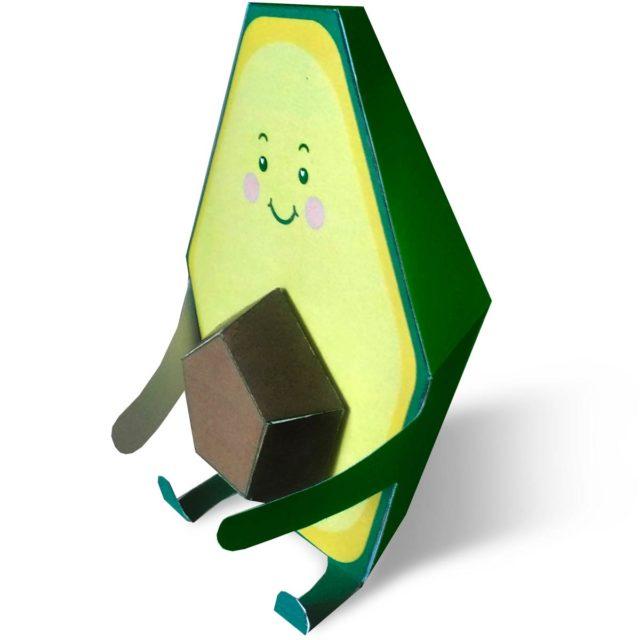 Паперкрафт авокадо