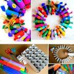 Игрушки из бумажных втулок