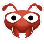 шаблон маски муравья