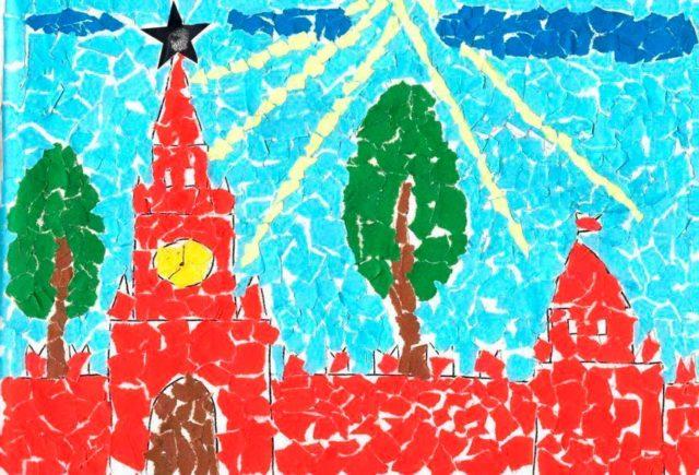 Аппликация московского кремля