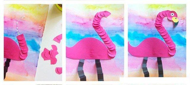 Создание аппликации фламинго
