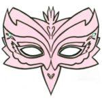 Маска фламинго,, шаблон