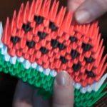 Долька арбуза в технике модульного оригами
