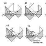 Схема мотоцикла в технике оригами