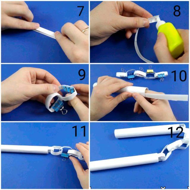 Создание нунчаки из бумаги