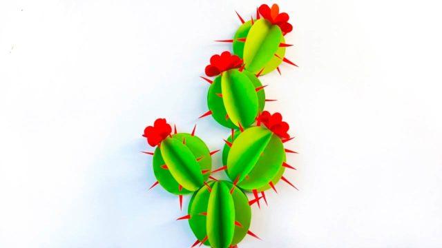 Аппликация кактус