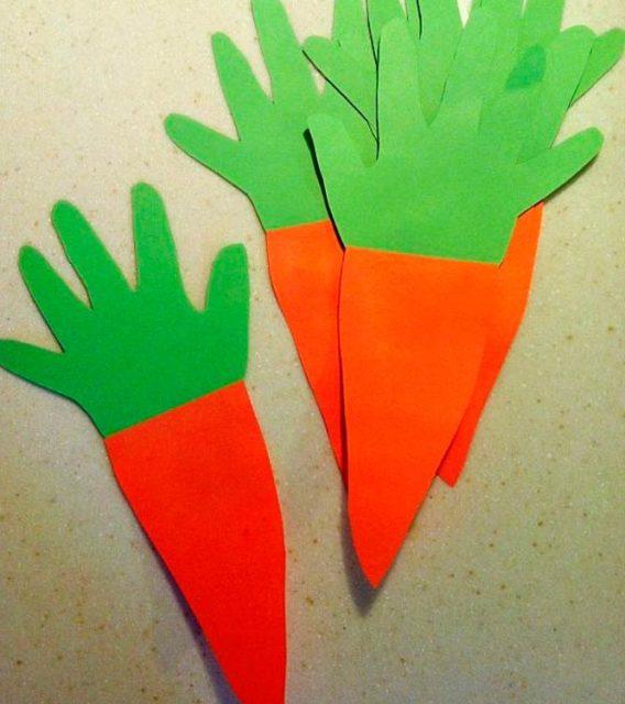 Аппликация морковь