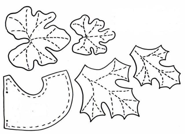 Шаблоны листьев тыквы