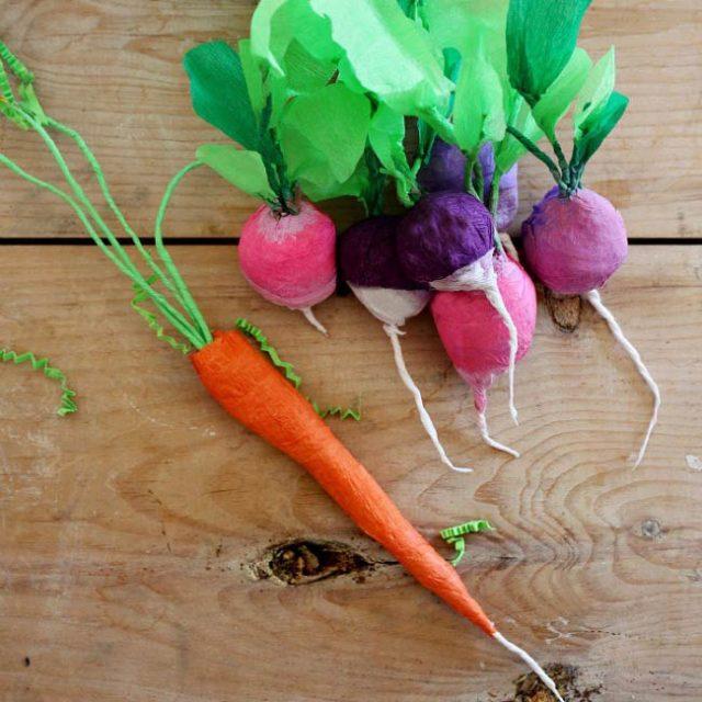 Бумажные овощи