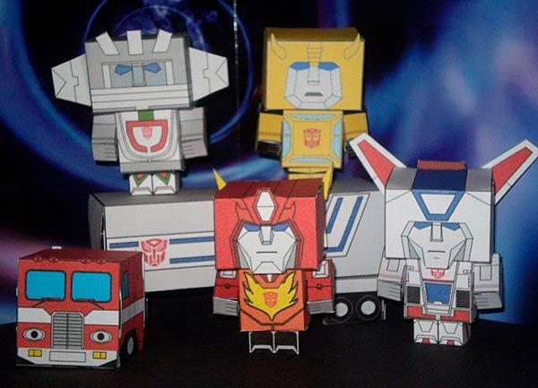 Бумажные герои из трансформеров