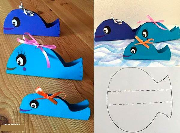 Поделки из бумаги киты