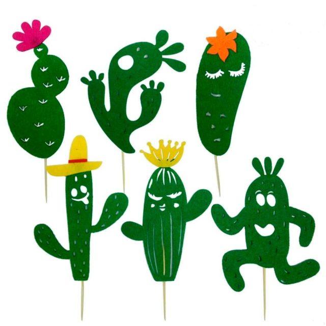 Шаблон кактусов для вырезания