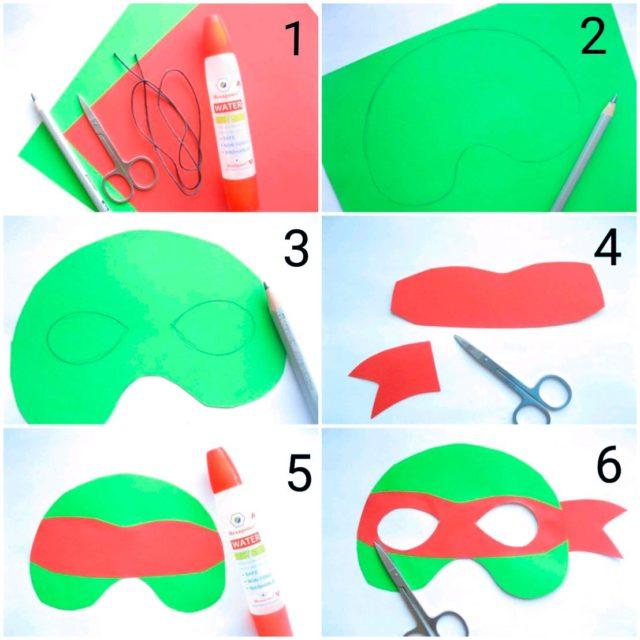 Создание маски черепашки ниндзя