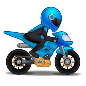 Шаблон мотоцикла с мотоциклистом