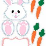 заяц с морковкой, шаблон
