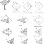 Схема оригами фламинго