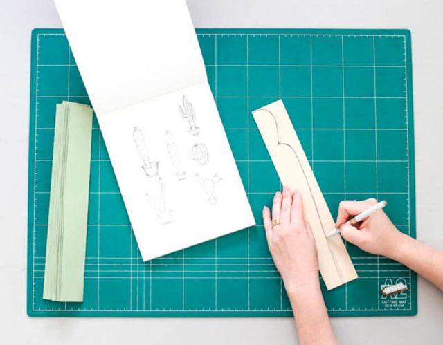 Создание бумажного кактуса