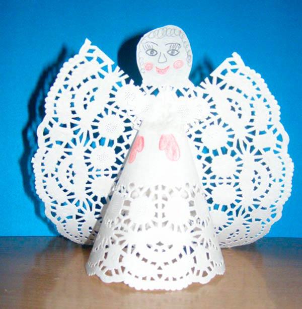 Ангел из салфеток