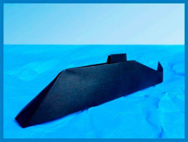 Подводная лодка оригами