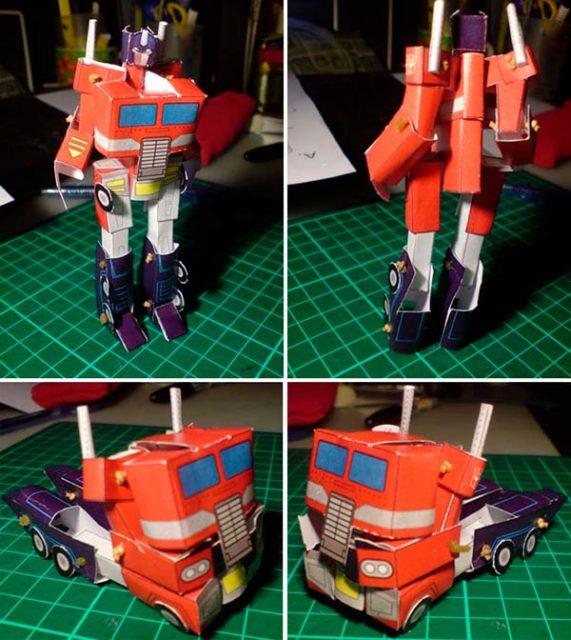 Робот трансформер из бумаги