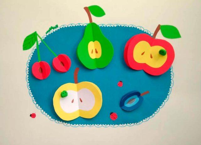 Аппликация фруктов