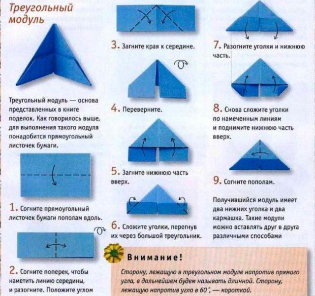 Как сложить модуль оригами