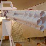 Пулемет шестиствольный из бумаги