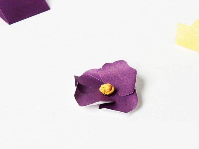 Создание цветов фиалки