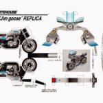 Развертка полицейского мотоцикла для вырезания и склейки